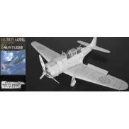 Vystrihovačka papierového modelu lietadla SBD-3