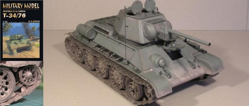 Vystrihovačka papierového modelu tank T-34/76