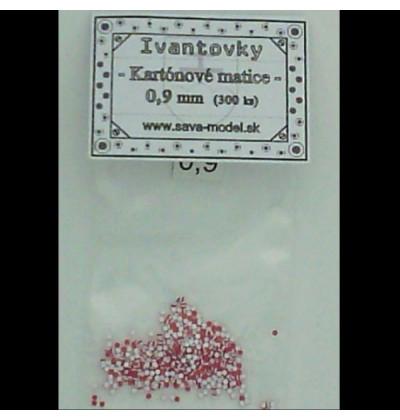 Kartónové matice 0,9 mm - 300 ks - Ivantovky