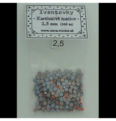 Kartónové matice 2,5 mm - 300 ks - Ivantovky