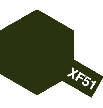 Modelárska akrylová farba XF-51 Khaki Drab