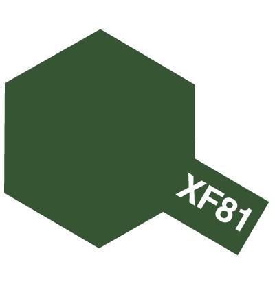 Modelárska akrylová farba XF-81 Dark Green 2 RAF